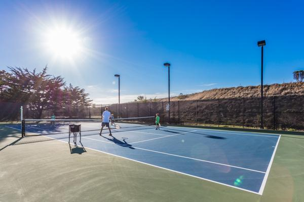 newly resurfaced lighted tennis courts
